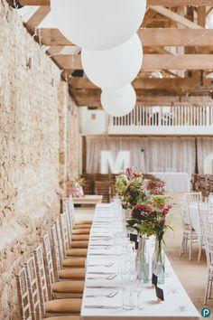 Rustic barn wedding in Dorset | Symondsbury Estate | Wedding decorations ideas | Paul Underhill Photography
