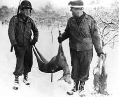 Just before the Battle of the Bulge the GI's had the time to hunt. The Ardennes was considered a rather peaceful part of the front, used as a resting area for depleted and fresh US divisions.