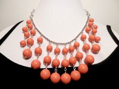 Swarovski Pearl Coral Necklace by houseofTROCK on Etsy, $45.00