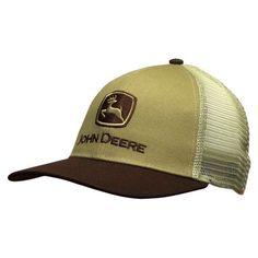 e7bfbe4efd3 John Deere Old School Mesh Trucker Style Mesh Hat in Brown It s so old  school