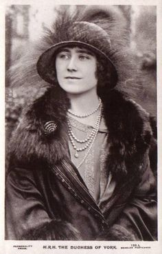 The Duchess of York, later the Queen Mother.
