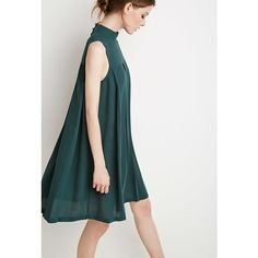 Buy Olive Green, Green Casual dress for woman at best price. Compare Dresses prices from online stores like Forever 21 - Wossel United States Dress Outfits, Casual Dresses, Short Dresses, Fashion Dresses, Summer Dresses, Tent Dress, Swing Dress, Girl Fashion, Womens Fashion