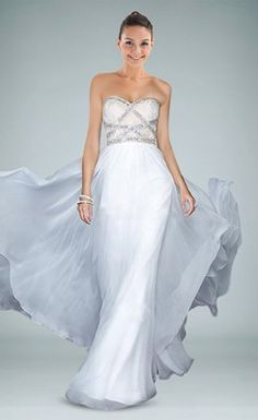 Glittering Strapless Lace-up Back Mermaid Evening Gown