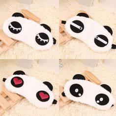 Sleeping is one of the most important things in your day. The worst is when you can't sleep or are woken up from the light. Eyemasks are the answer to those problems! This panda eye mask is soft and f
