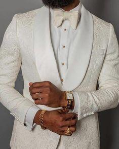 Ivory wedding suit for black men suit blazer tuxedo two pieces (jacket + pants) - altering pants Mens Tuxedo Suits, Groom Tuxedo, Tuxedo For Men, Tuxedo Wedding, Wedding Men, Wedding Suits, Ivory Wedding, Gothic Wedding, Slim Fit Tuxedo