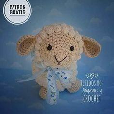 Crochet Animal Patterns, Stuffed Animal Patterns, Crochet Patterns Amigurumi, Amigurumi Doll, Crochet Animals, Crochet Toys, Cute Crochet, Crochet For Kids, Sheep And Lamb