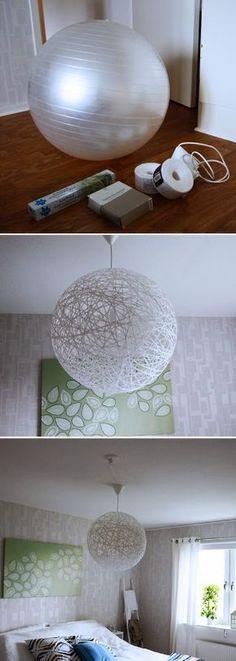 DIY: lámpara colgante estilo Random light. Hazla tú mismo con el paso a paso de http://misslacraftmanualidades.blogspot.com.es/