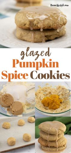 Glazed Pumpkin Spice Cookies Recipe Pumpkin Spice Cookie Recipe, Iced Pumpkin Cookies, Pumpkin Dessert, Easy Easter Desserts, Easy No Bake Desserts, Delicious Desserts, Birthday Desserts, Brownie Recipes, Cookie Recipes