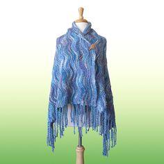 Knitting Patterns Galore - Wavy Wrap
