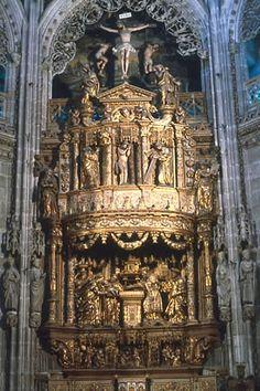 Felipe Bigarny y Diego de Siloe.(más del pintor León Picardo) Retablo de San Pedro en la Capilla del Condestable, 1525. Catedral de Burgos.