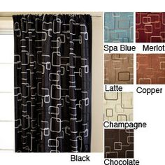 @Overstock - The contemporary design of this rod pocket curtain panel will enliven the atmosphere in any room, with its wide range of colors to choose from. Patterned with a daring square embroidery, it makes a finely textured and intimate decor element.http://www.overstock.com/Home-Garden/Madison-Square-Rod-Pocket-120-inch-Curtain-Panel/4155132/product.html?CID=214117 $51.99