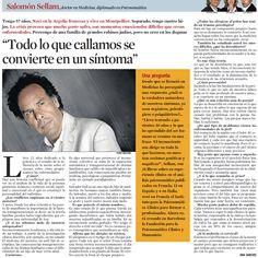 """Desde los años 80 se ha puesto de manifiesto la importancia de la historia transgeneracional"""" Entrevista a Salomón Sellam en La Contra de La Vanguardia"""