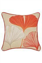 Orange Ginko Leaf Cushion