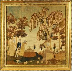 Silk embroidered memorial from Huber - Gearge Washington