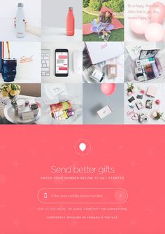 In a nutshell, Spoil is a gift-sending service that mixes the internet and cell phone text messaging. You enter your Canada or United States mobile phone number to get started. It connects you to a curator who will ask you some basic questions, and provide you with tailored gift options based on your specific gifting needs.