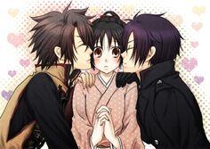 Hakuouki Shinsengumi Kitan, Yukimura Chizuru, Okita Souji (Hakuouki), Saitou Hajime (Hakuouki)