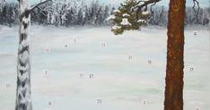 Meillä on ollut kahtena peräkkäisenä vuonna tarina-joulukalenteri. Olen itse maalannut taustan ja keksinyt siihen kaksi eri tarinaa. Mietin... 21st, Snow, Outdoor, Outdoors, Outdoor Games, The Great Outdoors, Eyes, Let It Snow