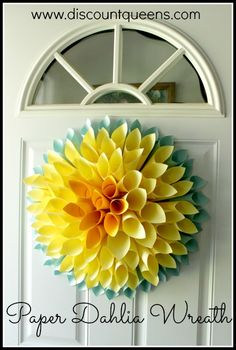 I thought this Dahlia wreath was beautiful, and would be fun in such a variety of colors. I made this one in particular for my Mom's house. It really just pops on their front door, I love…