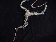 Swarovski Crystal Lariat Necklace-Crystal Jewelry-Statement Jewelry-Elegant Woman-Elegant Jewelry-Special Gift-Refined Ladies Jewelry
