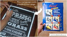 So that's how they make those beautiful chalkboard signs!! Use Transfer (tracing) Paper to copy an image onto a blackboard and then just fill it in with chalk.