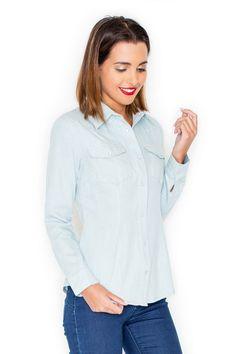 Koszula damska zapinana na napy