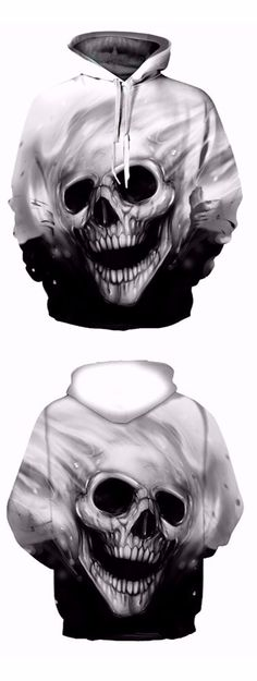 Men's Casual 3D Print Hoodie Cave Head Print Sweatshirt