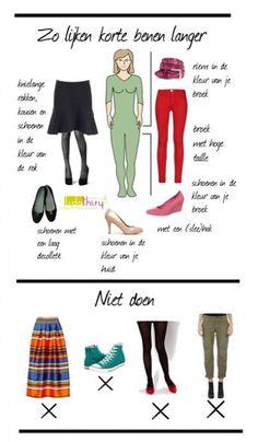 Zo lijken korte benen langer | www.lidathiry.nl | Klik op de foto voor meer tips #korte-benen #kledingtip