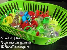 What a fun activity for reinforcing finger numbers and the crazier the rings the better!