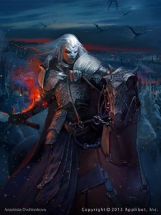Orc Fighter -- Commander army NE Plate Armor Horseback Barding Sword battle Eastern Border #orc