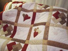 Colcha de patchwork para el sofá