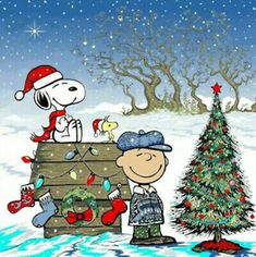 Holidays Disney, Cross Stitch Pattern, Charlie Brown And Snoopy One Xmas Tree Christmas Comics, Peanuts Christmas, Christmas Animals, Disney Christmas, Christmas Images, Christmas Art, Christmas Humor, Vintage Christmas, Funny Christmas Pictures