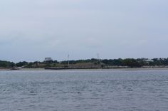 View of Fort Moultrie aboard the The General Beauregard Harbor Cruise in Charleston, South Carolina.