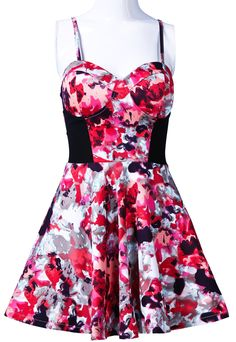 Vestido tirantes estampado-Rosa EUR€21.13