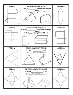 1000 images about prisms and pyramids on pinterest 3d shapes geometry and paper models. Black Bedroom Furniture Sets. Home Design Ideas