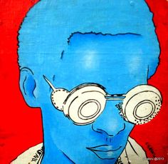 The Nairobi, Kenya artist is turning e-waste into wearables and art. Contemporary African Art, Nairobi, Kenya, Science Fiction, Eyeglasses, Paintings, Thoughts, Comics, Drawings