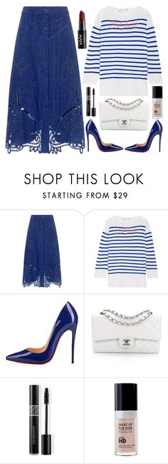 """""""street style"""" by ecem1 ❤ liked on Polyvore featuring Sea, New York, Lingua Franca, Christian Louboutin, Chanel, Christian Dior and NYX"""