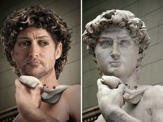It's said that Michelangelo based his image of David upon typical representations of the God Hercules, who was considered an important figure in Florence. Ancient Rome, Ancient History, Art History, Miguel Angel, Art Sculpture, Sculptures, Roman Sculpture, Forensic Facial Reconstruction, Ancient Greek Sculpture