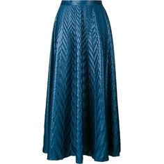 Golden Goose Deluxe Brand chevron print long skirt ($680) ❤ liked on Polyvore featuring skirts, blue, long skirts, ankle length skirts, chevron print skirt, floor length skirt and chevron print maxi skirt