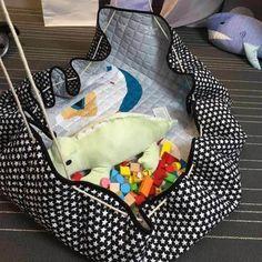 Elisona ® Tapis De Jeux - Bébé mignon coton rond chambre tapis Toy stockage sac pour jouer tapis enfants
