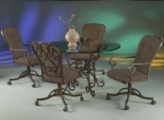 Amazon.com: Pastel Magnolia Swivel Dining Set: Home & Kitchen