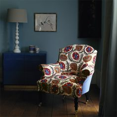 Zoffany - Luxury Fabric and Wallpaper Design   Products   British/UK Fabric and Wallpapers   Suzani (ZANJ05002)   Anjolie
