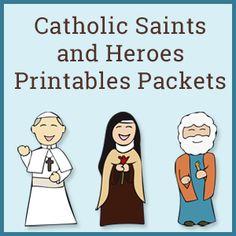 Catholic Saints and Heroes Packets | Catholic Printables | Saint Printables | Catholic Worksheets | Saint Worksheets