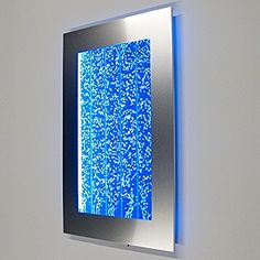 Wall Mount Hanging Bubble Wall Aquarium 30 LED Lighting Indoor Panel 300WM Water Fall Fountain Water Feature | Trend Hoot