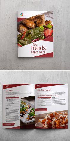 Trends brochure for Kent Precision Foods Group. We provided research, recipe development, photography, and design. Brochure Food, Brochure Cover, Group Meals, Flyer, Menu Restaurant, Grafik Design, Food Menu, Side Dishes, Letter Heads
