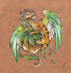 The dance of magic.. Color pencils, pens. I was searching for some paper and sketches in my cupboard, and suddenly I found this. Some of you may rememeber this dragon. I think, that the drawing nee...