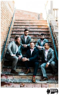 The Gallery in Houston Texas wedding photos. Groomsmen photo ideas
