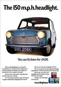 Vintage Mini Cooper Ad