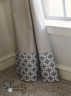 cheap and easy long panel curtains
