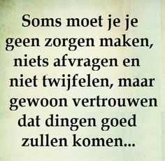 Vertrouwen...