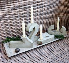 Dicke 4 cm (etwas standsicherer für den Garten) Hier bekommst du je eine Mehrfach Betongießform aus Styrodur für die Zahlen 1- 4 die du selbst mit Beton ausgießen kannst! Für Adventszahlen...